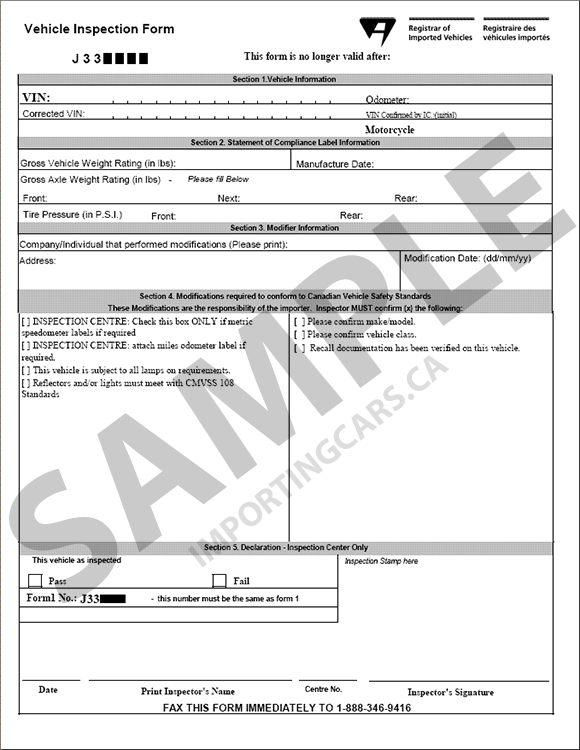 Importingcars Ca What Is The Form 2